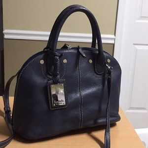 Tignanello Blue leather satchel or Crossbody Bag
